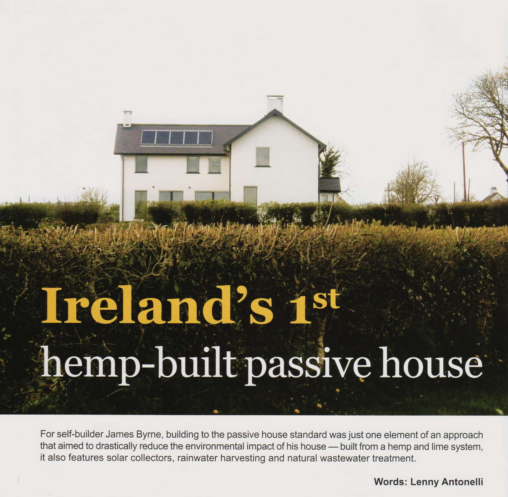 Passive Hemp House